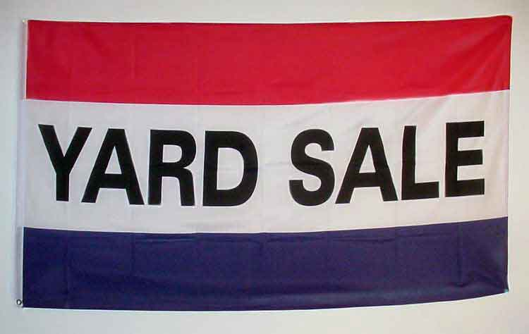 advertising signs and banner flags yardsale flag